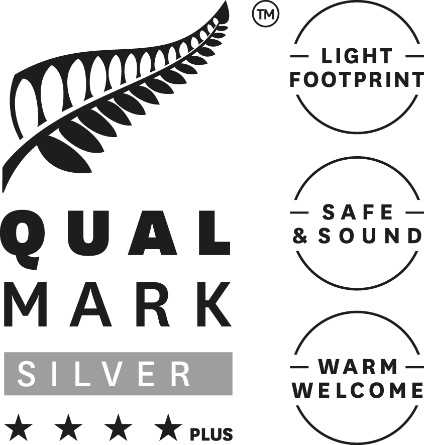Qualmark 4 Star Plus Silver Award Logo Stacked